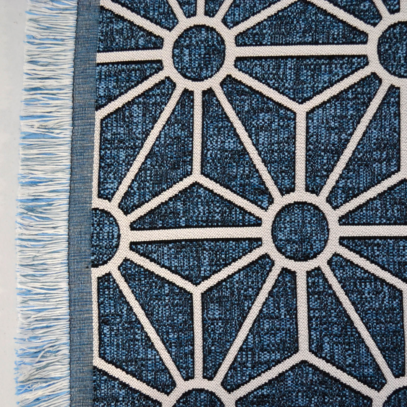 Milek Setisa Rugs DBL5 6001 in Blue and White